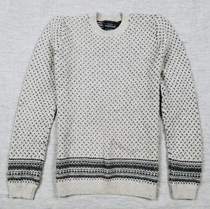 Topman off-white Lambswool blend crew neck sweater